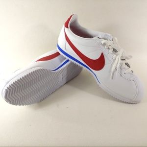 Nike Classic Cortez Leather White Red Shoes Forres
